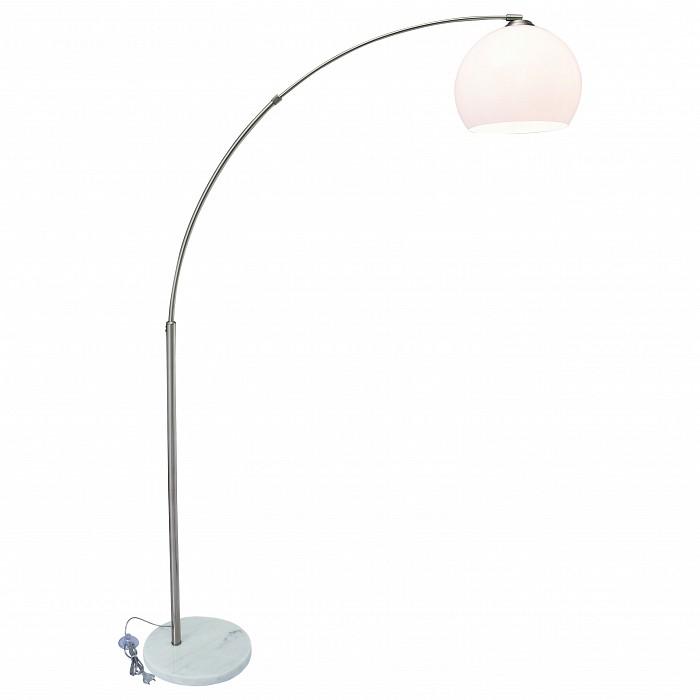 Торшеры Arte LampС абажуром<br>Артикул - AR_A5822PN-1SS,Бренд - Arte Lamp (Италия),Коллекция - Goliath,Гарантия, месяцы - 24,Ширина, мм - 300,Высота, мм - 1700,Выступ, мм - 1000,Тип лампы - компактная люминесцентная [КЛЛ] ИЛИнакаливания ИЛИсветодиодная [LED],Общее кол-во ламп - 1,Напряжение питания лампы, В - 220,Максимальная мощность лампы, Вт - 60,Лампы в комплекте - отсутствуют,Цвет плафонов и подвесок - белый,Тип поверхности плафонов - матовый,Материал плафонов и подвесок - полимер,Цвет арматуры - серебро,Тип поверхности арматуры - матовый,Материал арматуры - металл,Количество плафонов - 1,Наличие выключателя, диммера или пульта ДУ - ножной выключатель,Компоненты, входящие в комплект - провод электропитания с вилкой без заземления,Тип цоколя лампы - E27,Класс электробезопасности - II,Степень пылевлагозащиты, IP - 20,Диапазон рабочих температур - комнатная температура<br>