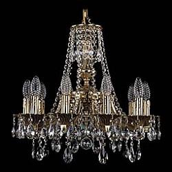 Подвесная люстра Bohemia Ivele CrystalБолее 6 ламп<br>Артикул - BI_1771_10_150_A_GB,Бренд - Bohemia Ivele Crystal (Чехия),Коллекция - 1771,Гарантия, месяцы - 24,Высота, мм - 440,Диаметр, мм - 520,Размер упаковки, мм - 450x450x200,Тип лампы - компактная люминесцентная [КЛЛ] ИЛИнакаливания ИЛИсветодиодная [LED],Общее кол-во ламп - 10,Напряжение питания лампы, В - 220,Максимальная мощность лампы, Вт - 40,Лампы в комплекте - отсутствуют,Цвет плафонов и подвесок - неокрашенный,Тип поверхности плафонов - прозрачный,Материал плафонов и подвесок - хрусталь,Цвет арматуры - золото черненое,Тип поверхности арматуры - глянцевый, рельефный,Материал арматуры - латунь,Возможность подлючения диммера - можно, если установить лампу накаливания,Форма и тип колбы - свеча ИЛИ свеча на ветру,Тип цоколя лампы - E14,Класс электробезопасности - I,Общая мощность, Вт - 400,Степень пылевлагозащиты, IP - 20,Диапазон рабочих температур - комнатная температура,Дополнительные параметры - способ крепления светильника к потолку - на крюке, указана высота светильника без подвеса<br>