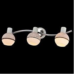 Спот EurosvetС 3 лампами<br>Артикул - EV_76507,Бренд - Eurosvet (Китай),Коллекция - Сириус,Гарантия, месяцы - 24,Тип лампы - компактная люминесцентная [КЛЛ] ИЛИнакаливания ИЛИсветодиодная [LED],Общее кол-во ламп - 3,Напряжение питания лампы, В - 220,Максимальная мощность лампы, Вт - 40,Лампы в комплекте - отсутствуют,Цвет плафонов и подвесок - белый, коричневый, серый,Тип поверхности плафонов - матовый,Материал плафонов и подвесок - стекло,Цвет арматуры - серый, хром,Тип поверхности арматуры - глянцевый, матовый,Материал арматуры - металл,Возможность подлючения диммера - можно, если установить лампу накаливания,Тип цоколя лампы - E14,Класс электробезопасности - I,Общая мощность, Вт - 120,Степень пылевлагозащиты, IP - 20,Диапазон рабочих температур - комнатная температура,Дополнительные параметры - способ крепления светильника к потолку и стене - на монтажной пластине, поворотный светильник<br>