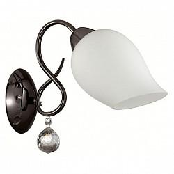Бра LumionС 1 лампой<br>Артикул - LMN_3076_1W,Бренд - Lumion (Италия),Коллекция - Rondina,Гарантия, месяцы - 24,Высота, мм - 210,Размер упаковки, мм - 205x150x200,Тип лампы - компактная люминесцентная [КЛЛ] ИЛИнакаливания ИЛИсветодиодная [LED],Общее кол-во ламп - 1,Напряжение питания лампы, В - 220,Максимальная мощность лампы, Вт - 60,Лампы в комплекте - отсутствуют,Цвет плафонов и подвесок - белый, неокрашенный,Тип поверхности плафонов - матовый, прозрачный,Материал плафонов и подвесок - стекло, хрусталь,Цвет арматуры - черный,Тип поверхности арматуры - глянцевый,Материал арматуры - металл,Возможность подлючения диммера - можно, если установить лампу накаливания,Тип цоколя лампы - E27,Класс электробезопасности - I,Степень пылевлагозащиты, IP - 20,Диапазон рабочих температур - комнатная температура,Дополнительные параметры - способ крепления светильника на стене – на монтажной пластине, светильник предназначен для использования со скрытой проводкой<br>