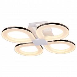 Потолочная люстра ST-LuceПолимерные плафоны<br>Артикул - SL869.552.04,Бренд - ST-Luce (Китай),Коллекция - Twiddle,Гарантия, месяцы - 24,Высота, мм - 110,Размер упаковки, мм - 570x570x190,Тип лампы - светодиодная [LED],Общее кол-во ламп - 4,Максимальная мощность лампы, Вт - 19,Лампы в комплекте - светодиодные [LED],Цвет плафонов и подвесок - белый,Тип поверхности плафонов - матовый,Материал плафонов и подвесок - акрил,Цвет арматуры - белый, хром,Тип поверхности арматуры - глянцевый, матовый,Материал арматуры - металл,Возможность подлючения диммера - нельзя,Класс электробезопасности - I,Общая мощность, Вт - 76,Степень пылевлагозащиты, IP - 20,Диапазон рабочих температур - комнатная температура,Дополнительные параметры - способ крепления светильника к потолку - на монтажной пластине<br>