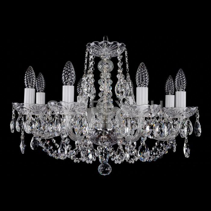 Фото Подвесная люстра Bohemia Ivele Crystal 1406 1406/8/195/Ni