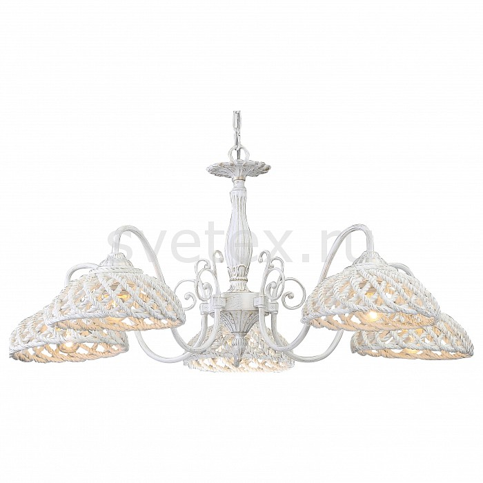 Подвесная люстра Arte LampСветильники<br>Артикул - AR_A5358LM-5WG,Бренд - Arte Lamp (Италия),Коллекция - Twisted,Гарантия, месяцы - 24,Высота, мм - 370,Диаметр, мм - 840,Тип лампы - компактная люминесцентная [КЛЛ] ИЛИнакаливания ИЛИсветодиодная [LED],Общее кол-во ламп - 5,Напряжение питания лампы, В - 220,Максимальная мощность лампы, Вт - 60,Лампы в комплекте - отсутствуют,Цвет плафонов и подвесок - белый, золото,Тип поверхности плафонов - матовый, рельефный,Материал плафонов и подвесок - полимер,Цвет арматуры - белый, золото,Тип поверхности арматуры - матовый,Материал арматуры - металл,Количество плафонов - 5,Возможность подлючения диммера - можно, если установить лампу накаливания,Тип цоколя лампы - E27,Класс электробезопасности - I,Общая мощность, Вт - 300,Степень пылевлагозащиты, IP - 20,Диапазон рабочих температур - комнатная температура,Дополнительные параметры - способ крепления светильника к потолоку - на крюке, указана высота светильника без подвеса<br>