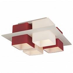 Потолочная люстра ST-LuceНе более 4 ламп<br>Артикул - SL540.562.04,Бренд - ST-Luce (Китай),Коллекция - Solido,Гарантия, месяцы - 24,Высота, мм - 170,Размер упаковки, мм - 475x475x255,Тип лампы - компактная люминесцентная [КЛЛ] ИЛИнакаливания ИЛИсветодиодная [LED],Общее кол-во ламп - 4,Напряжение питания лампы, В - 220,Максимальная мощность лампы, Вт - 60,Лампы в комплекте - отсутствуют,Цвет плафонов и подвесок - белый, красный,Тип поверхности плафонов - матовый,Материал плафонов и подвесок - стекло,Цвет арматуры - никель,Тип поверхности арматуры - сатин,Материал арматуры - металл,Возможность подлючения диммера - можно, если установить лампу накаливания,Тип цоколя лампы - E27,Класс электробезопасности - I,Общая мощность, Вт - 240,Степень пылевлагозащиты, IP - 20,Диапазон рабочих температур - комнатная температура,Дополнительные параметры - способ крепления светильника к потолку – на монтажной пластине<br>