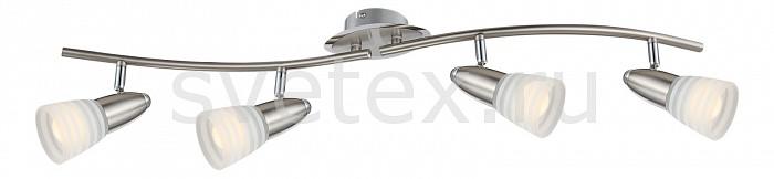 Спот GloboСпоты<br>Артикул - GB_54536-4,Бренд - Globo (Австрия),Коллекция - Caleb,Гарантия, месяцы - 24,Длина, мм - 800,Ширина, мм - 90,Выступ, мм - 160,Тип лампы - светодиодная [LED],Общее кол-во ламп - 4,Напряжение питания лампы, В - 230,Максимальная мощность лампы, Вт - 4,Цвет лампы - белый теплый,Лампы в комплекте - светодиодные [LED] E14,Цвет плафонов и подвесок - белый полосатый,Тип поверхности плафонов - матовый,Материал плафонов и подвесок - стекло,Цвет арматуры - никель, хром,Тип поверхности арматуры - глянцевый,Материал арматуры - металл,Количество плафонов - 4,Возможность подлючения диммера - нельзя,Форма и тип колбы - груша круглая матовая,Тип цоколя лампы - E14,Цветовая температура, K - 3000 K,Световой поток, лм - 1600,Экономичнее лампы накаливания - в 7.1 раза,Светоотдача, лм/Вт - 100,Ресурс лампы - 10 тыс. часов,Класс электробезопасности - I,Общая мощность, Вт - 16,Степень пылевлагозащиты, IP - 20,Диапазон рабочих температур - комнатная температура,Дополнительные параметры - поворотный светильник<br>
