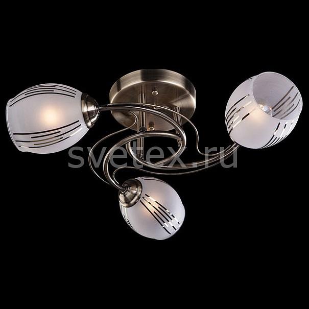 Фото Люстра на штанге Eurosvet 9652 9652/3 античная бронза