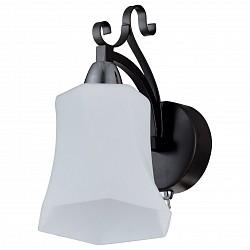 Бра IDLampС 1 лампой<br>Артикул - ID_849_1A-Dark,Бренд - IDLamp (Италия),Коллекция - 849,Гарантия, месяцы - 24,Время изготовления, дней - 1,Высота, мм - 200,Тип лампы - компактная люминесцентная [КЛЛ] ИЛИнакаливания ИЛИсветодиодная [LED],Общее кол-во ламп - 1,Напряжение питания лампы, В - 220,Максимальная мощность лампы, Вт - 40,Лампы в комплекте - отсутствуют,Цвет плафонов и подвесок - белый,Тип поверхности плафонов - матовый, рельефный,Материал плафонов и подвесок - стекло,Цвет арматуры - хром, черный,Тип поверхности арматуры - матовый,Материал арматуры - металл,Тип цоколя лампы - E14,Степень пылевлагозащиты, IP - 20,Диапазон рабочих температур - комнатная температура,Дополнительные параметры - светильник предназначен для использования со скрытой проводкой<br>