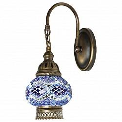 Бра Kink LightС 1 лампой<br>Артикул - KL_0812TA.05,Бренд - Kink Light (Китай),Коллекция - Марокко,Гарантия, месяцы - 12,Высота, мм - 290,Тип лампы - компактная люминесцентная [КЛЛ] ИЛИнакаливания ИЛИсветодиодная [LED],Общее кол-во ламп - 1,Напряжение питания лампы, В - 220,Максимальная мощность лампы, Вт - 40,Лампы в комплекте - отсутствуют,Цвет плафонов и подвесок - голубой с рисунокм,Тип поверхности плафонов - глянцевый, рельефный,Материал плафонов и подвесок - стекло,Цвет арматуры - бронза,Тип поверхности арматуры - глянцевый,Материал арматуры - металл,Возможность подлючения диммера - можно, если установить лампу накаливания,Тип цоколя лампы - E14,Класс электробезопасности - I,Степень пылевлагозащиты, IP - 20,Диапазон рабочих температур - комнатная температура,Дополнительные параметры - светильник предназначен для использования со скрытой проводкой, техника мозаика<br>