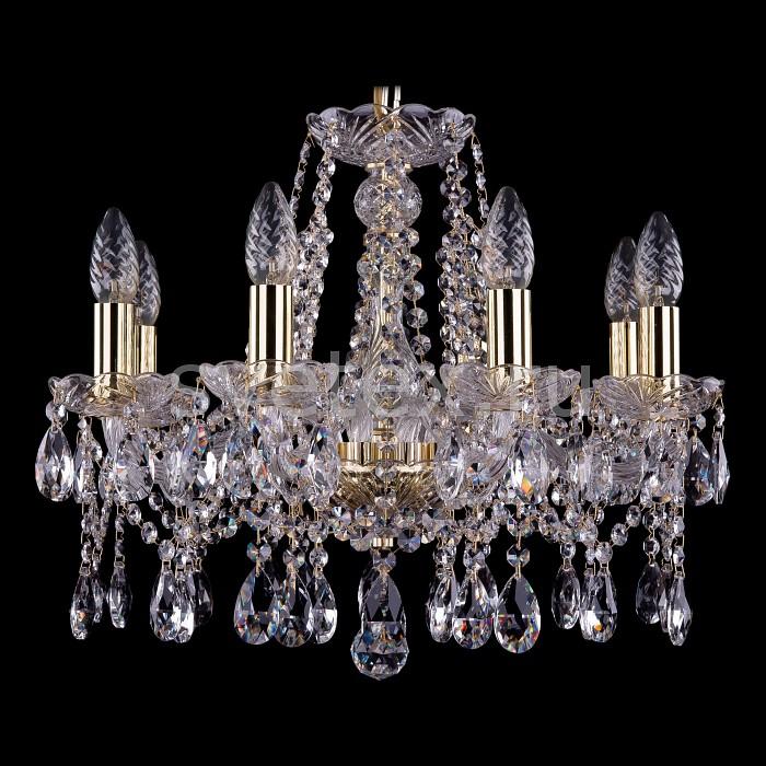 Фото Подвесная люстра Bohemia Ivele Crystal 1413 1413/8/165/G