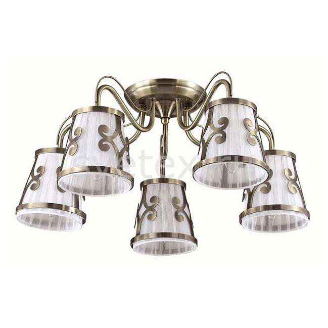 Потолочная люстра LumionСветильники<br>Артикул - LMN_3285_5C,Бренд - Lumion (Италия),Коллекция - Fetida,Гарантия, месяцы - 24,Высота, мм - 280,Диаметр, мм - 600,Размер упаковки, мм - 250x430x300,Тип лампы - компактная люминесцентная [КЛЛ] ИЛИнакаливания ИЛИсветодиодная [LED],Общее кол-во ламп - 5,Напряжение питания лампы, В - 220,Максимальная мощность лампы, Вт - 60,Лампы в комплекте - отсутствуют,Цвет плафонов и подвесок - белый с бронзовым рисунком,Тип поверхности плафонов - матовый,Материал плафонов и подвесок - металл, текстиль,Цвет арматуры - бронза,Тип поверхности арматуры - матовый, металлик,Материал арматуры - металл,Количество плафонов - 5,Возможность подлючения диммера - можно, если установить лампу накаливания,Тип цоколя лампы - E14,Класс электробезопасности - I,Общая мощность, Вт - 300,Степень пылевлагозащиты, IP - 20,Диапазон рабочих температур - комнатная температура,Дополнительные параметры - способ крепления к потолку - на монтажной пластине<br>