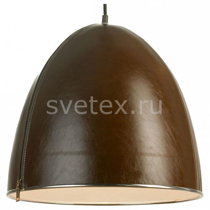 Подвесной светильник LussoleБарные<br>Артикул - lsp-9866,Бренд - Lussole (Италия),Коллекция - lsp-9866,Гарантия, месяцы - 24,Время изготовления, дней - 1,Высота, мм - 380-1200,Диаметр, мм - 400,Тип лампы - компактная люминесцентная [КЛЛ] ИЛИнакаливания ИЛИсветодиодная [LED],Общее кол-во ламп - 1,Напряжение питания лампы, В - 220,Максимальная мощность лампы, Вт - 60,Лампы в комплекте - отсутствуют,Цвет плафонов и подвесок - коричневый, хром,Тип поверхности плафонов - глянцевый, матовый,Материал плафонов и подвесок - экокожа,Цвет арматуры - черный,Тип поверхности арматуры - матовый,Материал арматуры - металл,Количество плафонов - 1,Возможность подлючения диммера - можно, если установить лампу накаливания,Тип цоколя лампы - E27,Класс электробезопасности - I,Степень пылевлагозащиты, IP - 20,Диапазон рабочих температур - комнатная температура,Дополнительные параметры - регулируется по высоте,  способ крепления светильника к потолку – на монтажной пластине<br>