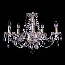 Подвесная люстра Bohemia Ivele Crystal5 или 6 ламп<br>Артикул - BI_1406_5_195,Бренд - Bohemia Ivele Crystal (Чехия),Коллекция - 1406,Гарантия, месяцы - 24,Высота, мм - 410,Диаметр, мм - 580,Размер упаковки, мм - 450x450x200,Тип лампы - компактная люминесцентная [КЛЛ] ИЛИнакаливания ИЛИсветодиодная [LED],Общее кол-во ламп - 5,Напряжение питания лампы, В - 220,Максимальная мощность лампы, Вт - 40,Лампы в комплекте - отсутствуют,Цвет плафонов и подвесок - неокрашенный,Тип поверхности плафонов - прозрачный,Материал плафонов и подвесок - хрусталь,Цвет арматуры - золото, неокрашенный,Тип поверхности арматуры - глянцевый, прозрачный,Материал арматуры - металл, стекло,Возможность подлючения диммера - можно, если установить лампу накаливания,Форма и тип колбы - свеча,Тип цоколя лампы - E14,Класс электробезопасности - I,Общая мощность, Вт - 200,Степень пылевлагозащиты, IP - 20,Диапазон рабочих температур - комнатная температура,Дополнительные параметры - способ крепления светильника к потолку – на крюке<br>