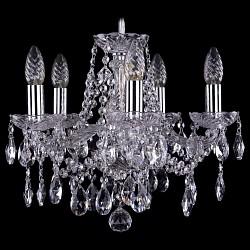 Подвесная люстра Bohemia Ivele Crystal5 или 6 ламп<br>Артикул - BI_1413_5_141_Ni,Бренд - Bohemia Ivele Crystal (Чехия),Коллекция - 1413,Гарантия, месяцы - 24,Высота, мм - 340,Диаметр, мм - 420,Размер упаковки, мм - 450x450x200,Тип лампы - компактная люминесцентная [КЛЛ] ИЛИнакаливания ИЛИсветодиодная [LED],Общее кол-во ламп - 5,Напряжение питания лампы, В - 220,Максимальная мощность лампы, Вт - 40,Лампы в комплекте - отсутствуют,Цвет плафонов и подвесок - неокрашенный,Тип поверхности плафонов - прозрачный,Материал плафонов и подвесок - хрусталь,Цвет арматуры - неокрашенный, никель,Тип поверхности арматуры - глянцевый, прозрачный, рельефный,Материал арматуры - металл, стекло,Возможность подлючения диммера - можно, если установить лампу накаливания,Форма и тип колбы - свеча ИЛИ свеча на ветру,Тип цоколя лампы - E14,Класс электробезопасности - I,Общая мощность, Вт - 200,Степень пылевлагозащиты, IP - 20,Диапазон рабочих температур - комнатная температура,Дополнительные параметры - способ крепления светильника к потолку - на крюке, указана высота светильника без подвеса<br>
