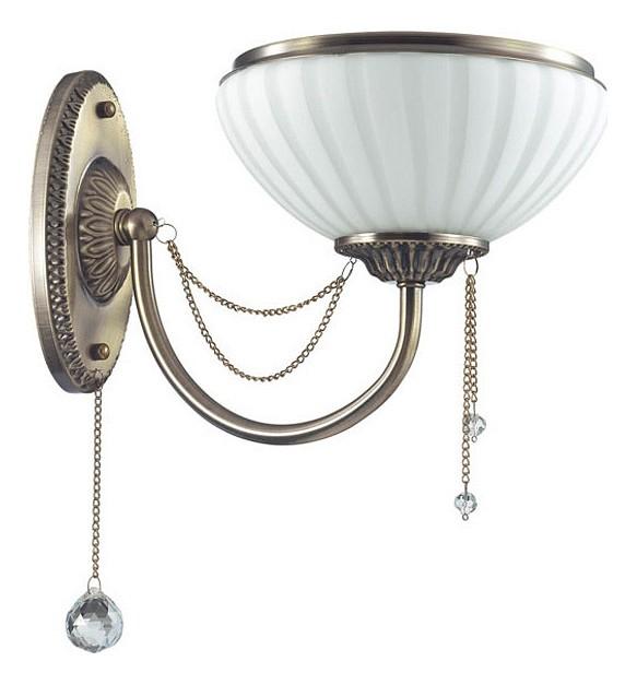 Бра Odeon LightНастенные светильники<br>Артикул - OD_3227_1W,Бренд - Odeon Light (Италия),Коллекция - Lorra,Гарантия, месяцы - 24,Ширина, мм - 200,Высота, мм - 315,Выступ, мм - 305,Тип лампы - компактная люминесцентная [КЛЛ] ИЛИнакаливания ИЛИсветодиодная [LED],Общее кол-во ламп - 1,Напряжение питания лампы, В - 220,Максимальная мощность лампы, Вт - 60,Лампы в комплекте - отсутствуют,Цвет плафонов и подвесок - белый с бронзовой каймой, неокрашенный,Тип поверхности плафонов - матовый, прозрачный,Материал плафонов и подвесок - стекло, хрусталь,Цвет арматуры - бронза античная,Тип поверхности арматуры - матовый, рельефный,Материал арматуры - металл,Количество плафонов - 1,Возможность подлючения диммера - можно, если установить лампу накаливания,Тип цоколя лампы - E27,Класс электробезопасности - I,Степень пылевлагозащиты, IP - 20,Диапазон рабочих температур - комнатная температура,Дополнительные параметры - светильник предназначен для использования со скрытой проводкой<br>