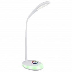Настольная лампа GloboПолимерные<br>Артикул - GB_58264,Бренд - Globo (Австрия),Коллекция - Minea,Гарантия, месяцы - 24,Высота, мм - 480,Размер упаковки, мм - 115х115х240,Тип лампы - светодиодная [LED],Общее кол-во ламп - 1,Напряжение питания лампы, В - 220,Максимальная мощность лампы, Вт - 3,Лампы в комплекте - светодиодная [LED],Цвет плафонов и подвесок - белый, неокрашенный,Тип поверхности плафонов - матовый,Материал плафонов и подвесок - полимер,Цвет арматуры - белый,Тип поверхности арматуры - матовый,Материал арматуры - металл,Класс электробезопасности - II,Степень пылевлагозащиты, IP - 20,Диапазон рабочих температур - комнатная температура,Дополнительные параметры - поворотный светильник, светильник декорирован светодиодами общей мощностью 1, 4 W<br>