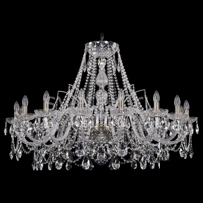 Подвесная люстра Bohemia Ivele CrystalБолее 6 ламп<br>Артикул - BI_1411_16_400_Pa,Бренд - Bohemia Ivele Crystal (Чехия),Коллекция - 1411,Гарантия, месяцы - 24,Высота, мм - 1170,Диаметр, мм - 1180,Размер упаковки, мм - 710x710x350,Тип лампы - компактная люминесцентная [КЛЛ] ИЛИнакаливания ИЛИсветодиодная [LED],Количество ламп - 39,Общее кол-во ламп - 16,Напряжение питания лампы, В - 220,Максимальная мощность лампы, Вт - 40,Лампы в комплекте - отсутствуют,Цвет плафонов и подвесок - неокрашенный,Тип поверхности плафонов - прозрачный,Материал плафонов и подвесок - хрусталь,Цвет арматуры - золото с патиной, неокрашенный,Тип поверхности арматуры - глянцевый, прозрачный,Материал арматуры - металл, стекло,Возможность подлючения диммера - можно, если установить лампу накаливания,Форма и тип колбы - свеча ИЛИ свеча на ветру,Тип цоколя лампы - E14,Класс электробезопасности - I,Общая мощность, Вт - 1980,Степень пылевлагозащиты, IP - 20,Диапазон рабочих температур - комнатная температура,Дополнительные параметры - способ крепления светильника к потолку - на крюке, указана высота светильники без подвеса<br>