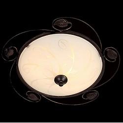 Накладной светильник EurosvetКруглые<br>Артикул - EV_76387,Бренд - Eurosvet (Китай),Коллекция - Беата,Гарантия, месяцы - 24,Высота, мм - 130,Диаметр, мм - 370,Тип лампы - компактная люминесцентная [КЛЛ] ИЛИнакаливания ИЛИсветодиодная [LED],Общее кол-во ламп - 2,Напряжение питания лампы, В - 220,Максимальная мощность лампы, Вт - 60,Лампы в комплекте - отсутствуют,Цвет плафонов и подвесок - белый с рисунком,Тип поверхности плафонов - матовый,Материал плафонов и подвесок - стекло,Цвет арматуры - венге,Тип поверхности арматуры - матовый,Материал арматуры - металл,Возможность подлючения диммера - можно, если установить лампу накаливания,Тип цоколя лампы - E27,Класс электробезопасности - I,Общая мощность, Вт - 120,Степень пылевлагозащиты, IP - 20,Диапазон рабочих температур - комнатная температура,Дополнительные параметры - способ крепления светильника к потолку - на монтажной пластине<br>