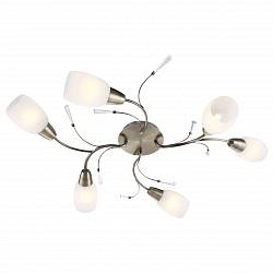 Потолочная люстра Globo5 или 6 ламп<br>Артикул - GB_54645-6,Бренд - Globo (Австрия),Коллекция - Forrest,Гарантия, месяцы - 24,Высота, мм - 170,Размер упаковки, мм - 250x130x410,Тип лампы - компактная люминесцентная [КЛЛ] ИЛИнакаливания ИЛИсветодиодная [LED],Общее кол-во ламп - 6,Напряжение питания лампы, В - 220,Максимальная мощность лампы, Вт - 40,Лампы в комплекте - отсутствуют,Цвет плафонов и подвесок - белый алебастр,Тип поверхности плафонов - матовый,Материал плафонов и подвесок - акрил, стекло,Цвет арматуры - бронза античная,Тип поверхности арматуры - матовый,Материал арматуры - металл,Возможность подлючения диммера - можно, если установить лампу накаливания,Тип цоколя лампы - E14,Класс электробезопасности - I,Общая мощность, Вт - 240,Степень пылевлагозащиты, IP - 20,Диапазон рабочих температур - комнатная температура,Дополнительные параметры - способ крепления светильника к потолку - на монтажной пластине<br>