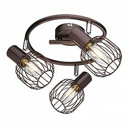 Спот GloboС 3 лампами<br>Артикул - GB_54801-3,Бренд - Globo (Австрия),Коллекция - Akin,Гарантия, месяцы - 24,Диаметр, мм - 480,Тип лампы - компактная люминесцентная [КЛЛ] ИЛИнакаливания ИЛИсветодиодная [LED],Общее кол-во ламп - 3,Напряжение питания лампы, В - 220,Максимальная мощность лампы, Вт - 40,Лампы в комплекте - отсутствуют,Цвет плафонов и подвесок - кофейный,Тип поверхности плафонов - матовый,Материал плафонов и подвесок - металл,Цвет арматуры - кофейный,Тип поверхности арматуры - матовый,Материал арматуры - металл,Возможность подлючения диммера - можно, если установить лампу накаливания,Тип цоколя лампы - E14,Класс электробезопасности - I,Общая мощность, Вт - 120,Степень пылевлагозащиты, IP - 20,Диапазон рабочих температур - комнатная температура,Дополнительные параметры - способ крепления светильника к потолку и стене - на монтажной пластине, поворотный светильник<br>