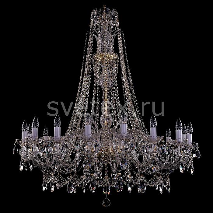 Подвесная люстра Bohemia Ivele CrystalБолее 6 ламп<br>Артикул - BI_1411_16_400_XL-115_G,Бренд - Bohemia Ivele Crystal (Чехия),Коллекция - 1411,Гарантия, месяцы - 24,Высота, мм - 1230,Диаметр, мм - 1160,Размер упаковки, мм - 710x710x350,Тип лампы - компактная люминесцентная [КЛЛ] ИЛИнакаливания ИЛИсветодиодная [LED],Количество ламп - 39,Общее кол-во ламп - 16,Напряжение питания лампы, В - 220,Максимальная мощность лампы, Вт - 40,Лампы в комплекте - отсутствуют,Цвет плафонов и подвесок - неокрашенный,Тип поверхности плафонов - прозрачный,Материал плафонов и подвесок - хрусталь,Цвет арматуры - золото, неокрашенный,Тип поверхности арматуры - глянцевый, прозрачный,Материал арматуры - металл, стекло,Возможность подлючения диммера - можно, если установить лампу накаливания,Форма и тип колбы - свеча ИЛИ свеча на ветру,Тип цоколя лампы - E14,Класс электробезопасности - I,Общая мощность, Вт - 1980,Степень пылевлагозащиты, IP - 20,Диапазон рабочих температур - комнатная температура,Дополнительные параметры - способ крепления светильника к потолку - на крюке, указана высота светильники без подвеса<br>