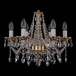 Подвесная люстра Bohemia Ivele Crystal5 или 6 ламп<br>Артикул - BI_1613_6_165_G,Бренд - Bohemia Ivele Crystal (Чехия),Коллекция - 1613,Гарантия, месяцы - 12,Высота, мм - 410,Диаметр, мм - 490,Размер упаковки, мм - 450x450x200,Тип лампы - компактная люминесцентная [КЛЛ] ИЛИнакаливания ИЛИсветодиодная [LED],Общее кол-во ламп - 6,Напряжение питания лампы, В - 220,Максимальная мощность лампы, Вт - 40,Лампы в комплекте - отсутствуют,Цвет плафонов и подвесок - неокрашенный,Тип поверхности плафонов - прозрачный,Материал плафонов и подвесок - хрусталь,Цвет арматуры - золото, неокрашенный,Тип поверхности арматуры - глянцевый, прозрачный,Материал арматуры - металл, стекло,Возможность подлючения диммера - можно, если установить лампу накаливания,Форма и тип колбы - свеча ИЛИ свеча на ветру,Тип цоколя лампы - E14,Класс электробезопасности - I,Общая мощность, Вт - 240,Степень пылевлагозащиты, IP - 20,Диапазон рабочих температур - комнатная температура,Дополнительные параметры - способ крепления светильника к потолку – на крюке<br>
