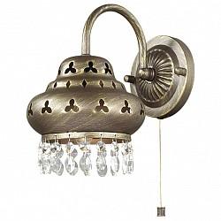 Бра Odeon LightМеталлический плафон<br>Артикул - OD_2841_1W,Бренд - Odeon Light (Италия),Коллекция - Bahar,Гарантия, месяцы - 24,Высота, мм - 245,Тип лампы - компактная люминесцентная [КЛЛ] ИЛИнакаливания ИЛИсветодиодная [LED],Общее кол-во ламп - 1,Напряжение питания лампы, В - 220,Максимальная мощность лампы, Вт - 40,Лампы в комплекте - отсутствуют,Цвет плафонов и подвесок - коричневый с патиной, неокрашенный,Тип поверхности плафонов - матовый, прозрачный,Материал плафонов и подвесок - металл, хрусталь,Цвет арматуры - коричневый с патиной,Тип поверхности арматуры - матовый, рельефный,Материал арматуры - металл,Возможность подлючения диммера - выключатель шнуровой,Тип цоколя лампы - E14,Класс электробезопасности - I,Степень пылевлагозащиты, IP - 20,Диапазон рабочих температур - комнатная температура,Дополнительные параметры - способ крепления светильника на стене – на монтажной пластине, светильник предназначен для использования со скрытой проводкой<br>