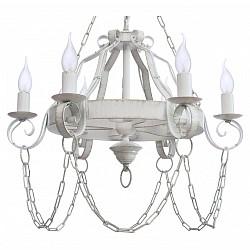 Подвесная люстра Аврора5 или 6 ламп<br>Артикул - AV_10133-6L,Бренд - Аврора (Россия),Коллекция - Севилья,Гарантия, месяцы - 24,Высота, мм - 730,Диаметр, мм - 560,Тип лампы - компактная люминесцентная [КЛЛ] ИЛИнакаливания ИЛИсветодиодная  [LED],Общее кол-во ламп - 6,Напряжение питания лампы, В - 220,Максимальная мощность лампы, Вт - 60,Лампы в комплекте - отсутствуют,Цвет арматуры - белый с золотой патиной,Тип поверхности арматуры - матовый,Материал арматуры - металл,Возможность подлючения диммера - можно, если установить лампу накаливания,Форма и тип колбы - свеча ИЛИ свеча на ветру,Тип цоколя лампы - E14,Класс электробезопасности - I,Общая мощность, Вт - 360,Степень пылевлагозащиты, IP - 20,Диапазон рабочих температур - комнатная температура,Дополнительные параметры - способ крепления светильника к потолку - на крюке, регулируется по высоте<br>