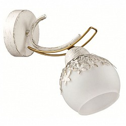 Бра LumionС 1 лампой<br>Артикул - LMN_3247_1W,Бренд - Lumion (Италия),Коллекция - Serisa,Гарантия, месяцы - 24,Высота, мм - 230,Тип лампы - компактная люминесцентная [КЛЛ] ИЛИнакаливания ИЛИсветодиодная [LED],Общее кол-во ламп - 1,Напряжение питания лампы, В - 220,Максимальная мощность лампы, Вт - 60,Лампы в комплекте - отсутствуют,Цвет плафонов и подвесок - белый с рисунком,Тип поверхности плафонов - матовый,Материал плафонов и подвесок - металл, стекло,Цвет арматуры - белый с золотой патиной, золото,Тип поверхности арматуры - матовый,Материал арматуры - металл,Количество плафонов - 1,Возможность подлючения диммера - можно, если установить лампу накаливания,Тип цоколя лампы - E14,Класс электробезопасности - I,Степень пылевлагозащиты, IP - 20,Диапазон рабочих температур - комнатная температура,Дополнительные параметры - способ крепления светильника на стене – на монтажной пластине, светильник предназначен для использования со скрытой проводкой<br>