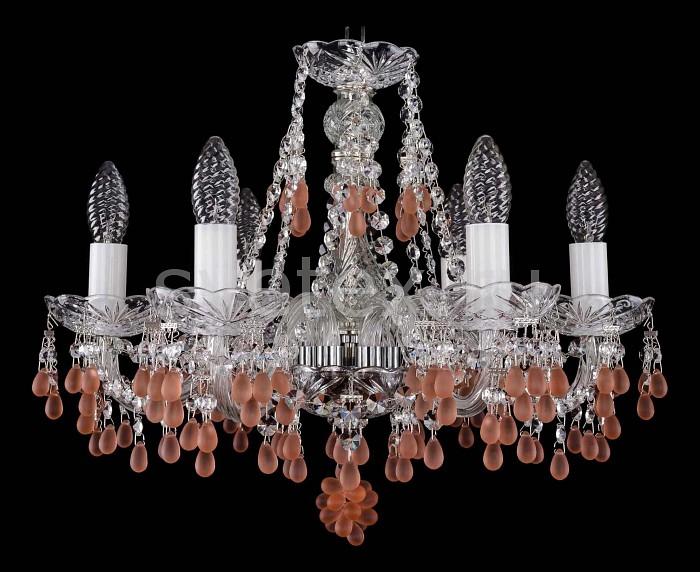 Фото Подвесная люстра Bohemia Ivele Crystal 1410 1410/6/160/Ni/7010