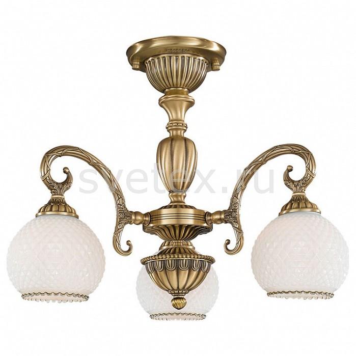 Люстра на штанге Reccagni AngeloЛюстры<br>Артикул - RA_PL_8420_3,Бренд - Reccagni Angelo (Италия),Коллекция - 8400,Гарантия, месяцы - 24,Высота, мм - 410,Диаметр, мм - 500,Тип лампы - компактная люминесцентная [КЛЛ] ИЛИнакаливания ИЛИсветодиодная [LED],Общее кол-во ламп - 3,Напряжение питания лампы, В - 220,Максимальная мощность лампы, Вт - 60,Лампы в комплекте - отсутствуют,Цвет плафонов и подвесок - белый,Тип поверхности плафонов - матовый, рельефный,Материал плафонов и подвесок - стекло,Цвет арматуры - бронза состаренная,Тип поверхности арматуры - матовый, рельефный,Материал арматуры - латунь,Количество плафонов - 3,Возможность подлючения диммера - можно, если установить лампу накаливания,Тип цоколя лампы - E27,Класс электробезопасности - I,Общая мощность, Вт - 180,Степень пылевлагозащиты, IP - 20,Диапазон рабочих температур - комнатная температура,Дополнительные параметры - способ крепления к потолку - на монтажной пластине<br>
