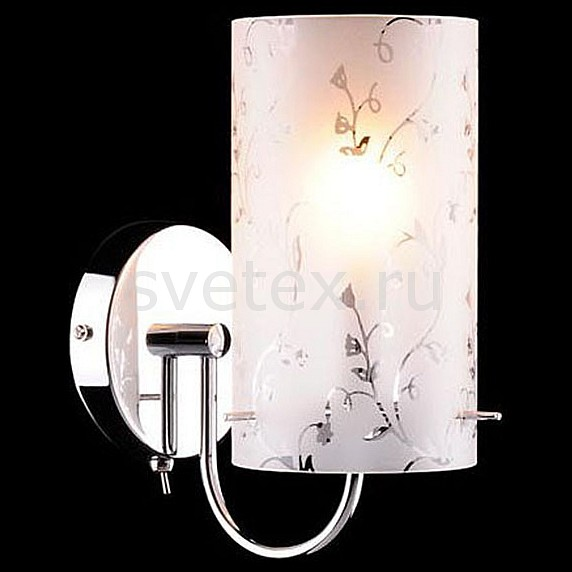 Бра EurosvetТочечные светильники<br>Артикул - EV_55459,Бренд - Eurosvet (Китай),Коллекция - 1129,Гарантия, месяцы - 24,Ширина, мм - 100,Высота, мм - 230,Выступ, мм - 170,Тип лампы - компактная люминесцентная [КЛЛ] ИЛИнакаливания ИЛИсветодиодная [LED],Общее кол-во ламп - 1,Напряжение питания лампы, В - 220,Максимальная мощность лампы, Вт - 60,Лампы в комплекте - отсутствуют,Цвет плафонов и подвесок - белый с рисунком,Тип поверхности плафонов - матовый,Материал плафонов и подвесок - стекло,Цвет арматуры - хром,Тип поверхности арматуры - глянцевый,Материал арматуры - металл,Количество плафонов - 1,Возможность подлючения диммера - можно, если установить лампу накаливания,Тип цоколя лампы - E27,Класс электробезопасности - I,Степень пылевлагозащиты, IP - 20,Диапазон рабочих температур - комнатная температура,Дополнительные параметры - способ крепления светильника на стене – на монтажной пластине, светильник предназначен для использования со скрытой проводкой<br>