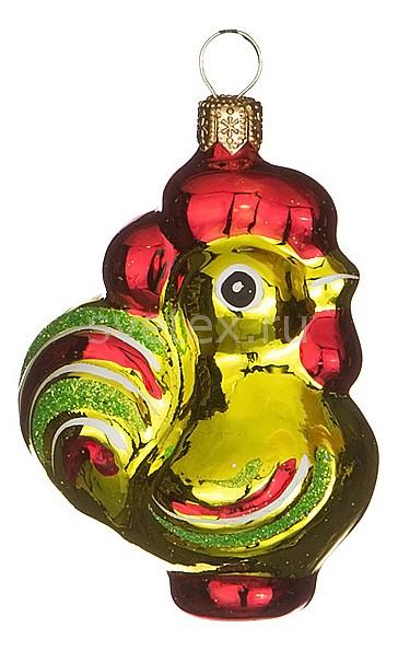 Елочная игрушка АРТИ-МЕлочные игрушки<br>Артикул - art_860-481,Бренд - АРТИ-М (Россия),Коллекция - Петушок,Высота, мм - 58,Цвет - золотой, красный,Материал - стекло<br>