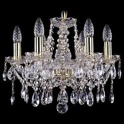 Подвесная люстра Bohemia Ivele Crystal5 или 6 ламп<br>Артикул - BI_1413_6_141_G,Бренд - Bohemia Ivele Crystal (Чехия),Коллекция - 1413,Гарантия, месяцы - 24,Высота, мм - 340,Диаметр, мм - 420,Размер упаковки, мм - 450x450x200,Тип лампы - компактная люминесцентная [КЛЛ] ИЛИнакаливания ИЛИсветодиодная [LED],Общее кол-во ламп - 6,Напряжение питания лампы, В - 220,Максимальная мощность лампы, Вт - 40,Лампы в комплекте - отсутствуют,Цвет плафонов и подвесок - неокрашенный,Тип поверхности плафонов - прозрачный,Материал плафонов и подвесок - хрусталь,Цвет арматуры - золото, неокрашенный,Тип поверхности арматуры - глянцевый, прозрачный, рельефный,Материал арматуры - металл, стекло,Возможность подлючения диммера - можно, если установить лампу накаливания,Форма и тип колбы - свеча ИЛИ свеча на ветру,Тип цоколя лампы - E14,Класс электробезопасности - I,Общая мощность, Вт - 240,Степень пылевлагозащиты, IP - 20,Диапазон рабочих температур - комнатная температура,Дополнительные параметры - способ крепления светильника к потолку - на крюке, указана высота светильника без подвеса<br>
