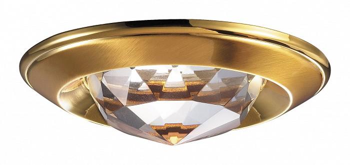 Встраиваемый светильник NovotechХрустальные<br>Артикул - NV_369428,Бренд - Novotech (Венгрия),Коллекция - Glam,Гарантия, месяцы - 24,Время изготовления, дней - 1,Глубина, мм - 20,Диаметр, мм - 80,Размер врезного отверстия, мм - 65,Тип лампы - галогеновая ИЛИсветодиодная [LED],Общее кол-во ламп - 1,Напряжение питания лампы, В - 12,Максимальная мощность лампы, Вт - 50,Лампы в комплекте - отсутствуют,Цвет плафонов и подвесок - неокрашенный,Тип поверхности плафонов - прозрачный, рельефный,Материал плафонов и подвесок - хрусталь,Цвет арматуры - золото,Тип поверхности арматуры - глянцевый,Материал арматуры - алюминиевое литье,Количество плафонов - 1,Возможность подлючения диммера - можно, если установить галогеновую лампу,Форма и тип колбы - полусферическая с рефлектором ИЛИполусферическая с радиатором,Тип цоколя лампы - GX5.3,Экономичнее лампы накаливания - на 50%,Класс электробезопасности - III,Напряжение питания, В - 220,Степень пылевлагозащиты, IP - 20,Диапазон рабочих температур - комнатная температура,Дополнительные параметры - возможна установка лампы GX5.3 (MR-16) на 12 В с подключением через трансформатор 12 В<br>