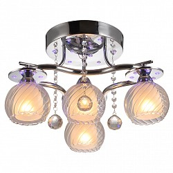 Потолочная люстра IDLampСветодиодные<br>Артикул - ID_224_4PF-Chrome,Бренд - IDLamp (Италия),Коллекция - 224,Высота, мм - 280,Диаметр, мм - 500,Тип лампы - компактная люминесцентная [КЛЛ] ИЛИнакаливания ИЛИсветодиодная [LED],Общее кол-во ламп - 4,Напряжение питания лампы, В - 220,Максимальная мощность лампы, Вт - 60,Лампы в комплекте - отсутствуют,Цвет плафонов и подвесок - белый, неокрашенный,Тип поверхности плафонов - матовый, прозрачный,Материал плафонов и подвесок - стекло, хрусталь,Цвет арматуры - хром,Тип поверхности арматуры - глянцевый,Материал арматуры - металл,Тип цоколя лампы - E14,Класс электробезопасности - I,Общая мощность, Вт - 240,Степень пылевлагозащиты, IP - 20,Диапазон рабочих температур - комнатная температура,Дополнительные параметры - светильник декорирован RGB светодиодами, способ крепления светильника к потолку – на монтажной пластине<br>