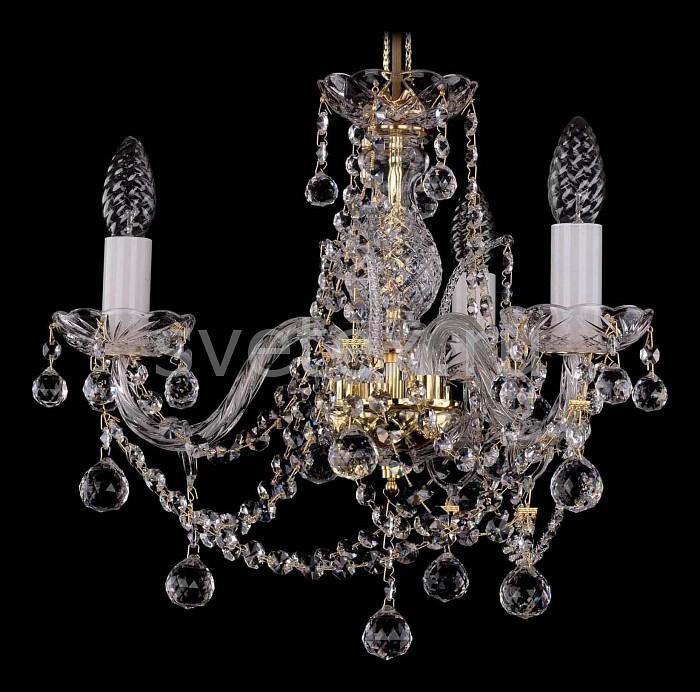 Фото Подвесная люстра Bohemia Ivele Crystal 1411 1411/3/141/G/Balls