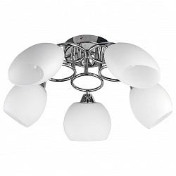 Потолочная люстра TopLight5 или 6 ламп<br>Артикул - TPL_TL2650X-05CH,Бренд - TopLight (Россия),Коллекция - Madalyn,Гарантия, месяцы - 24,Высота, мм - 250,Диаметр, мм - 620,Размер упаковки, мм - 280x170x570,Тип лампы - компактная люминесцентная [КЛЛ] ИЛИнакаливания ИЛИсветодиодная [LED],Общее кол-во ламп - 5,Напряжение питания лампы, В - 220,Максимальная мощность лампы, Вт - 60,Лампы в комплекте - отсутствуют,Цвет плафонов и подвесок - белый,Тип поверхности плафонов - матовый,Материал плафонов и подвесок - стекло,Цвет арматуры - хром,Тип поверхности арматуры - глянцевый,Материал арматуры - металл,Возможность подлючения диммера - можно, если установить лампу накаливания,Тип цоколя лампы - E14,Класс электробезопасности - I,Общая мощность, Вт - 300,Степень пылевлагозащиты, IP - 20,Диапазон рабочих температур - комнатная температура,Дополнительные параметры - способ крепления светильника к потолку - на монтажной пластине<br>