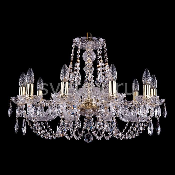 Подвесная люстра Bohemia Ivele CrystalБолее 6 ламп<br>Артикул - BI_1406_10_240_G,Бренд - Bohemia Ivele Crystal (Чехия),Коллекция - 1406,Гарантия, месяцы - 24,Высота, мм - 460,Диаметр, мм - 700,Размер упаковки, мм - 710x710x350,Тип лампы - компактная люминесцентная [КЛЛ] ИЛИнакаливания ИЛИсветодиодная [LED],Общее кол-во ламп - 10,Напряжение питания лампы, В - 220,Максимальная мощность лампы, Вт - 40,Лампы в комплекте - отсутствуют,Цвет плафонов и подвесок - неокрашенный,Тип поверхности плафонов - прозрачный,Материал плафонов и подвесок - хрусталь,Цвет арматуры - золото, неокрашенный,Тип поверхности арматуры - глянцевый, прозрачный, рельефный,Материал арматуры - металл, стекло,Возможность подлючения диммера - можно, если установить лампу накаливания,Форма и тип колбы - свеча ИЛИ свеча на ветру,Тип цоколя лампы - E14,Класс электробезопасности - I,Общая мощность, Вт - 400,Степень пылевлагозащиты, IP - 20,Диапазон рабочих температур - комнатная температура,Дополнительные параметры - способ крепления светильника к потолку - на крюке, указана высота светильника без подвеса<br>