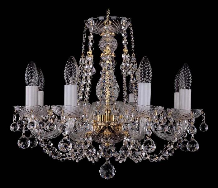 Фото Подвесная люстра Bohemia Ivele Crystal 1406 1406/8/160/G/Balls