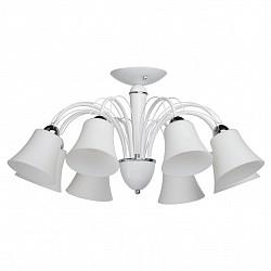 Люстра на штанге MW-LightБолее 6 ламп<br>Артикул - MW_297011508,Бренд - MW-Light (Германия),Коллекция - Мечта 1,Гарантия, месяцы - 12,Высота, мм - 370,Диаметр, мм - 750,Размер упаковки, мм - 500x290x150,Тип лампы - компактная люминесцентная [КЛЛ] ИЛИнакаливания ИЛИсветодиодная [LED],Общее кол-во ламп - 8,Напряжение питания лампы, В - 220,Максимальная мощность лампы, Вт - 60,Лампы в комплекте - отсутствуют,Цвет плафонов и подвесок - белый,Тип поверхности плафонов - матовый,Материал плафонов и подвесок - стекло,Цвет арматуры - белый, хром,Тип поверхности арматуры - матовый, глянцевый,Материал арматуры - металл,Возможность подлючения диммера - можно, если установить лампу накаливания,Тип цоколя лампы - E14,Класс электробезопасности - I,Общая мощность, Вт - 480,Степень пылевлагозащиты, IP - 20,Диапазон рабочих температур - комнатная температура,Дополнительные параметры - способ крепления светильника к потолку – на монтажной пластине<br>