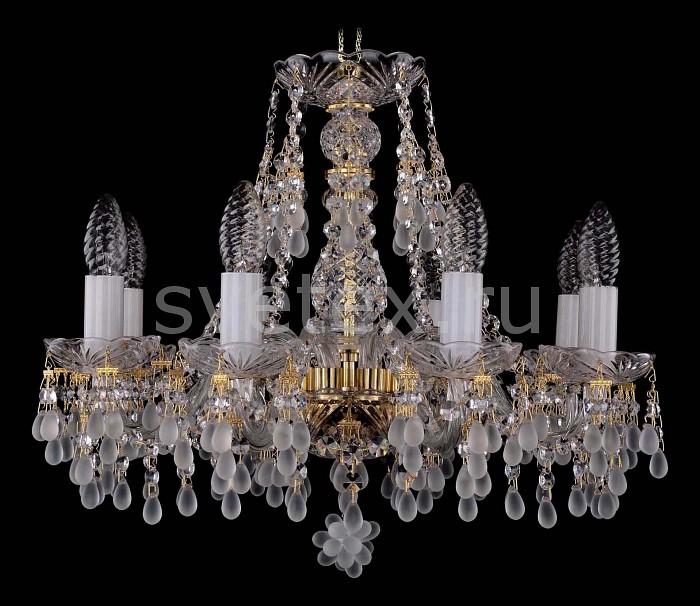 Фото Подвесная люстра Bohemia Ivele Crystal 1410 1410/8/160/G/0300