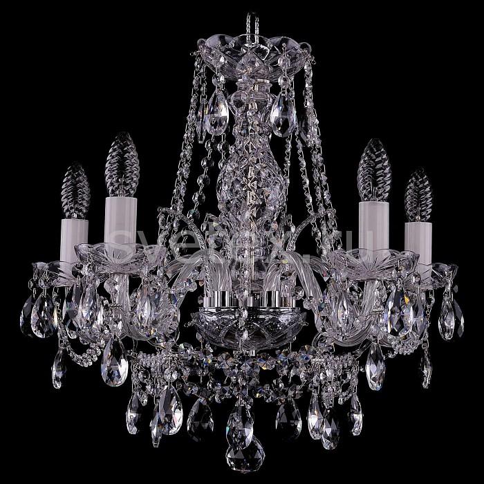 Фото Подвесная люстра Bohemia Ivele Crystal 1411 1411/5/160/Ni