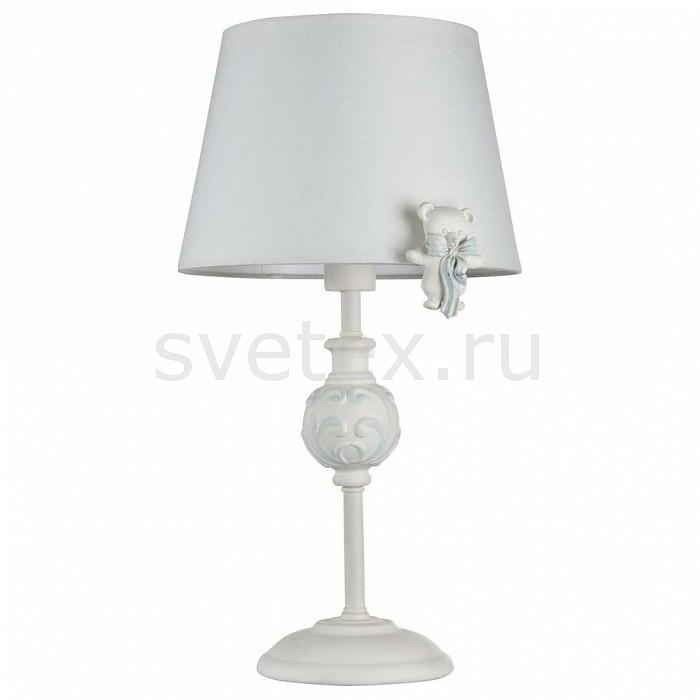 Настольная лампа MaytoniС абажуром<br>Артикул - MY_ARM033-11-BL,Бренд - Maytoni (Германия),Коллекция - Laurie,Гарантия, месяцы - 24,Высота, мм - 400,Диаметр, мм - 220,Размер упаковки, мм - 250x250x410,Тип лампы - компактная люминесцентная [КЛЛ] ИЛИнакаливания ИЛИсветодиодная [LED],Общее кол-во ламп - 1,Напряжение питания лампы, В - 220,Максимальная мощность лампы, Вт - 40,Лампы в комплекте - отсутствуют,Цвет плафонов и подвесок - белый, неокрашенный,Тип поверхности плафонов - матовый, прозрачный,Материал плафонов и подвесок - текстиль, хрусталь,Цвет арматуры - белый с голубой патиной,Тип поверхности арматуры - матовый, рельефный,Материал арматуры - металл,Количество плафонов - 1,Наличие выключателя, диммера или пульта ДУ - выключатель на проводе,Компоненты, входящие в комплект - провод электропитания с вилкой без заземления,Тип цоколя лампы - E14,Класс электробезопасности - II,Степень пылевлагозащиты, IP - 20,Диапазон рабочих температур - комнатная температура,Дополнительные параметры - светильник декорирован мишками из полирезин<br>