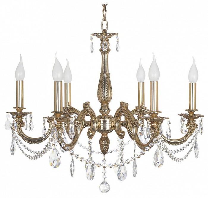 Подвесная люстра Dio D'Arte5 или 6 ламп<br>Артикул - DDA_Treviso_E_1.1.6.200_COG,Бренд - Dio D'Arte (Италия),Коллекция - Treviso,Гарантия, месяцы - 24,Высота, мм - 600,Диаметр, мм - 700,Тип лампы - компактная люминесцентная [КЛЛ] ИЛИнакаливания ИЛИсветодиодная  [LED],Общее кол-во ламп - 6,Напряжение питания лампы, В - 220,Максимальная мощность лампы, Вт - 40,Лампы в комплекте - отсутствуют,Цвет плафонов и подвесок - неокрашенный,Тип поверхности плафонов - прозрачный,Материал плафонов и подвесок - хрусталь Asfour,Цвет арматуры - золото,Тип поверхности арматуры - глянцевый,Материал арматуры - металл,Возможность подлючения диммера - можно, если установить лампу накаливания,Форма и тип колбы - свеча ИЛИ свеча на ветру,Тип цоколя лампы - E14,Класс электробезопасности - I,Общая мощность, Вт - 240,Степень пылевлагозащиты, IP - 20,Диапазон рабочих температур - комнатная температура,Дополнительные параметры - способ крепления светильника к потолку - на крюке, указана высота светильника без подвеса<br>