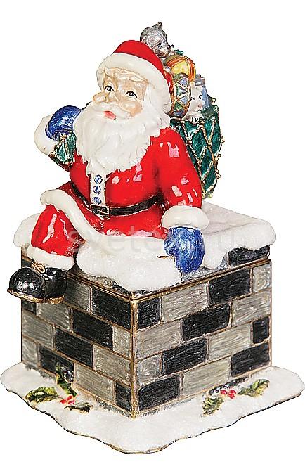 Шкатулка Mister ChristmasДеды Морозы<br>Артикул - MC_ST-7,Бренд - Mister Christmas (Россия),Коллекция - Дед Мороз,Высота, мм - 85,Высота - 8.5 см,Цвет - красный,Материал - металл, лак<br>