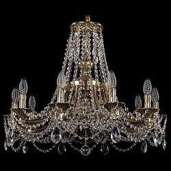 Подвесная люстра Bohemia Ivele CrystalБолее 6 ламп<br>Артикул - BI_1771_10_220_C_GB,Бренд - Bohemia Ivele Crystal (Чехия),Коллекция - 1771,Гарантия, месяцы - 24,Высота, мм - 550,Диаметр, мм - 690,Размер упаковки, мм - 450x450x200,Тип лампы - компактная люминесцентная [КЛЛ] ИЛИнакаливания ИЛИсветодиодная [LED],Общее кол-во ламп - 10,Напряжение питания лампы, В - 220,Максимальная мощность лампы, Вт - 40,Лампы в комплекте - отсутствуют,Цвет плафонов и подвесок - неокрашенный,Тип поверхности плафонов - прозрачный,Материал плафонов и подвесок - хрусталь,Цвет арматуры - золото черненое,Тип поверхности арматуры - глянцевый, рельефный,Материал арматуры - латунь,Возможность подлючения диммера - можно, если установить лампу накаливания,Форма и тип колбы - свеча ИЛИ свеча на ветру,Тип цоколя лампы - E14,Класс электробезопасности - I,Общая мощность, Вт - 400,Степень пылевлагозащиты, IP - 20,Диапазон рабочих температур - комнатная температура,Дополнительные параметры - способ крепления светильника к потолку - на крюке, указана высота светильника без подвеса<br>