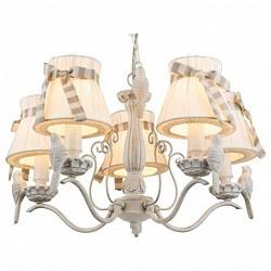 Подвесная люстра GloboТекстильные плафоны<br>Артикул - GB_69027-5,Бренд - Globo (Австрия),Коллекция - Savio,Гарантия, месяцы - 24,Высота, мм - 1120,Диаметр, мм - 560,Размер упаковки, мм - 470х370х300,Тип лампы - компактная люминесцентная [КЛЛ] ИЛИнакаливания ИЛИсветодиодная [LED],Общее кол-во ламп - 5,Напряжение питания лампы, В - 220,Максимальная мощность лампы, Вт - 60,Лампы в комплекте - отсутствуют,Цвет плафонов и подвесок - бежевый с полосатой лентой,Тип поверхности плафонов - матовый,Материал плафонов и подвесок - ткань,Цвет арматуры - белый,Тип поверхности арматуры - матовый,Материал арматуры - металл,Возможность подлючения диммера - можно, если установить лампу накаливания,Тип цоколя лампы - E14,Класс электробезопасности - I,Общая мощность, Вт - 300,Степень пылевлагозащиты, IP - 20,Диапазон рабочих температур - комнатная температура,Дополнительные параметры - регулируется по высоте, способ крепления светильника к потолку – на крюке, декор птички<br>
