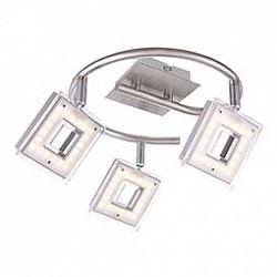 Спот GloboС 3 лампами<br>Артикул - GB_56138-3,Бренд - Globo (Австрия),Коллекция - Kerstin,Гарантия, месяцы - 24,Диаметр, мм - 250,Размер упаковки, мм - 255x225x100,Тип лампы - светодиодная [LED],Общее кол-во ламп - 3,Напряжение питания лампы, В - 130,Максимальная мощность лампы, Вт - 4, 2,Лампы в комплекте - светодиодные [LED],Цвет плафонов и подвесок - белый с неокрашенной каймой,Тип поверхности плафонов - матовый,Материал плафонов и подвесок - акрил,Цвет арматуры - никель, хром,Тип поверхности арматуры - глянцевый, матовый,Материал арматуры - металл,Возможность подлючения диммера - нельзя,Класс электробезопасности - I,Общая мощность, Вт - 12,Степень пылевлагозащиты, IP - 20,Диапазон рабочих температур - комнатная температура,Дополнительные параметры - способ крепления светильника к стене и потолку - на монтажной пластине, поворотный светильник<br>