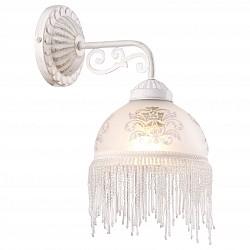 Бра Arte LampС 1 лампой<br>Артикул - AR_A9560AP-1WG,Бренд - Arte Lamp (Италия),Коллекция - Perlina,Гарантия, месяцы - 24,Высота, мм - 320,Тип лампы - компактная люминесцентная [КЛЛ] ИЛИнакаливания ИЛИсветодиодная [LED],Общее кол-во ламп - 1,Напряжение питания лампы, В - 220,Максимальная мощность лампы, Вт - 40,Лампы в комплекте - отсутствуют,Цвет плафонов и подвесок - белый с рисунком, неокрашенный,Тип поверхности плафонов - матовый, прозрачный,Материал плафонов и подвесок - стекло,Цвет арматуры - белый, золото,Тип поверхности арматуры - глянцевый, рельефный,Материал арматуры - металл,Возможность подлючения диммера - можно, если установить лампу накаливания,Тип цоколя лампы - E27,Класс электробезопасности - I,Степень пылевлагозащиты, IP - 20,Диапазон рабочих температур - комнатная температура,Дополнительные параметры - светильник предназначен для использования со скрытой проводкой<br>