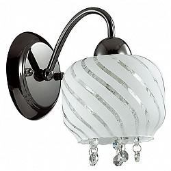 Бра LumionС 1 лампой<br>Артикул - LMN_3078_1W,Бренд - Lumion (Италия),Коллекция - Grandina,Гарантия, месяцы - 24,Высота, мм - 180,Размер упаковки, мм - 180x205x260,Тип лампы - компактная люминесцентная [КЛЛ] ИЛИнакаливания ИЛИсветодиодная [LED],Общее кол-во ламп - 1,Напряжение питания лампы, В - 220,Максимальная мощность лампы, Вт - 60,Лампы в комплекте - отсутствуют,Цвет плафонов и подвесок - белый полосатый, неокрашенный,Тип поверхности плафонов - матовый, прозрачный,Материал плафонов и подвесок - стекло, хрусталь,Цвет арматуры - черный,Тип поверхности арматуры - глянцевый,Материал арматуры - металл,Возможность подлючения диммера - можно, если установить лампу накаливания,Тип цоколя лампы - E14,Класс электробезопасности - I,Степень пылевлагозащиты, IP - 20,Диапазон рабочих температур - комнатная температура,Дополнительные параметры - способ крепления светильника на стене – на монтажной пластине, светильник предназначен для использования со скрытой проводкой<br>